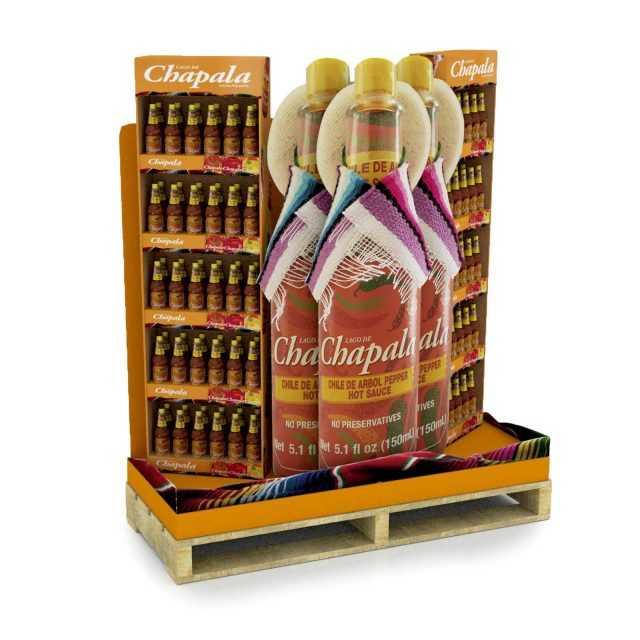 Half-Pallet Display Retail Food