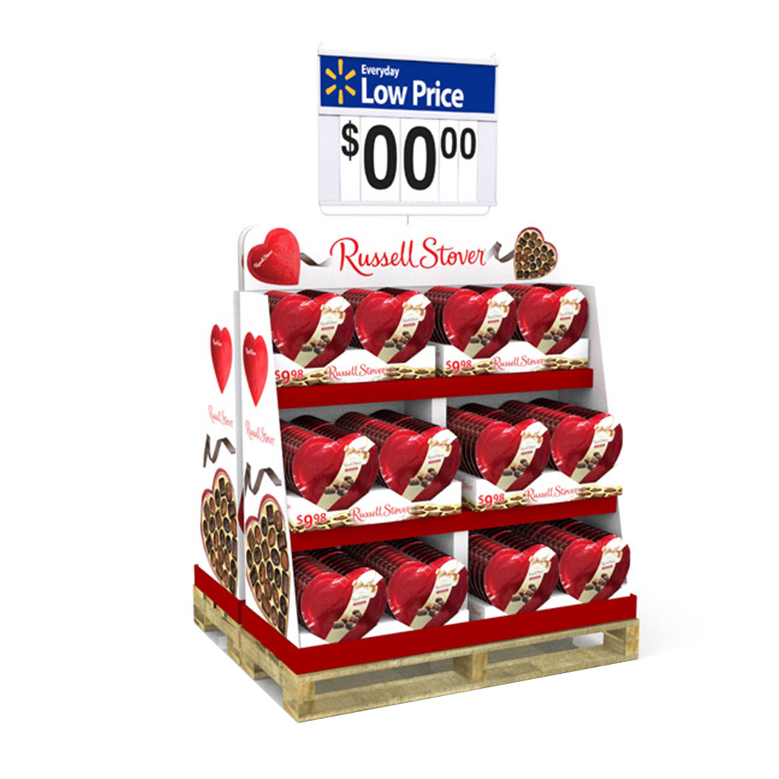 Half-Pallet Display Retail Holiday Chocolate