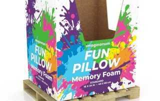 Memory Foam Pillow Dump Bins