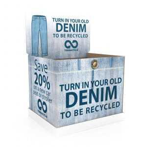 Denim Recycling Dump Bins