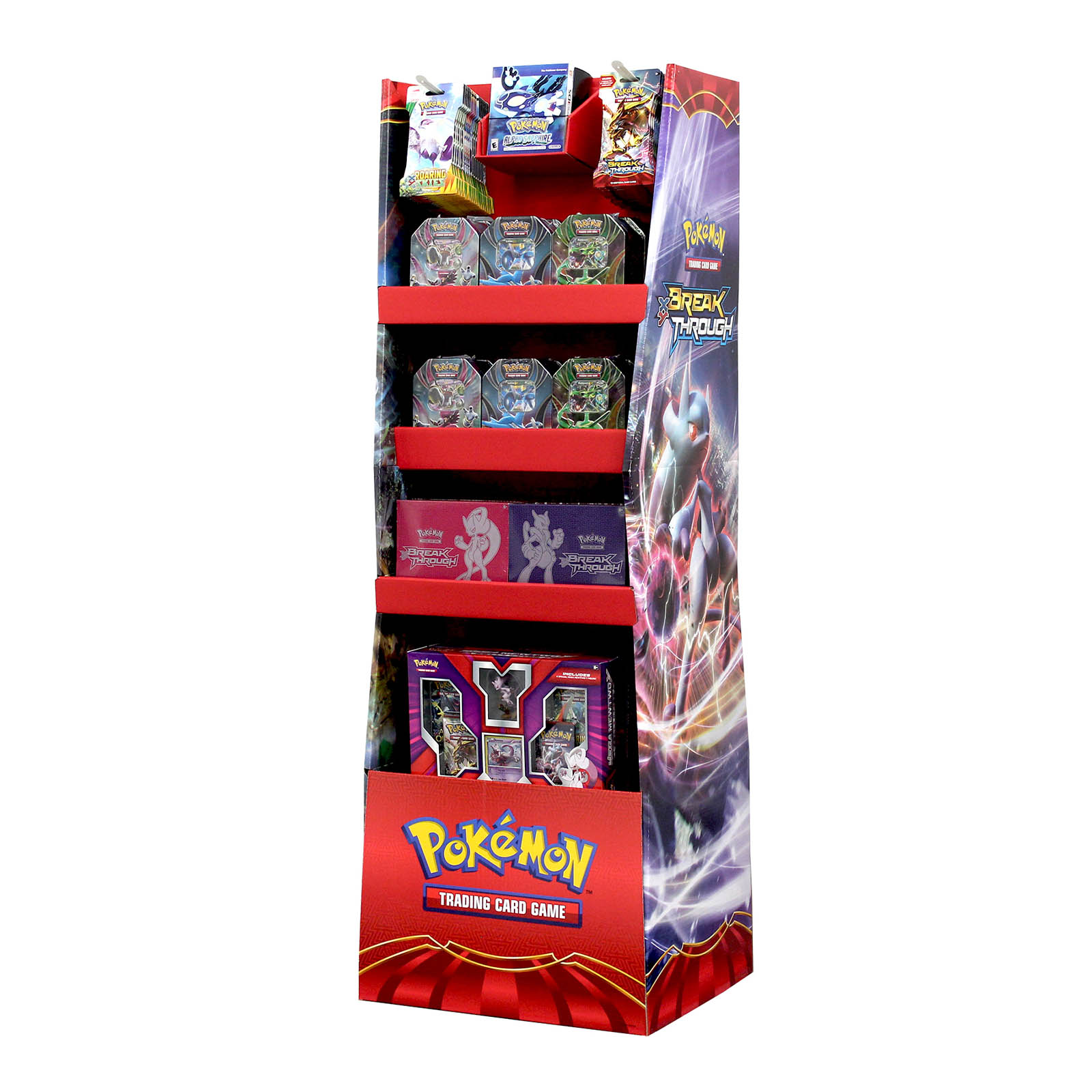 Retail Display Trading Card Toys Floorstand