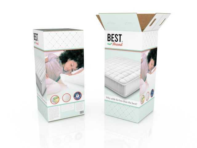 Bedding Mattress In A Box Memory Foam Packaging Digital Printing