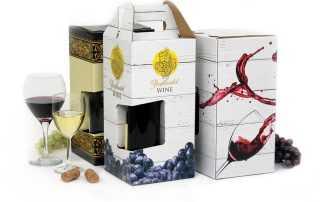 Custom Wine Packaging Digital Printing Carrier 4-pack 6-pack
