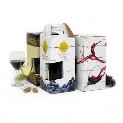 Custom Wine Packaging Digital Printing Carrier 4-pack 6-pack