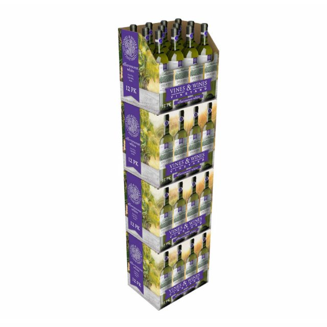 Wine SRP Packaging RRP Shelf-Ready Retail-Ready Display