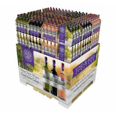 Wine SRP Packaging RRP Shelf-Ready Retail-Ready Full Pallet Display